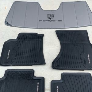 Authentic Porsche Windshield Sunshade and Car Mats
